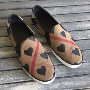 Burberry Gauden Canvas Slip-on Sneakers